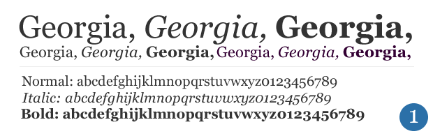 12 Georgia Font Family CSS Images