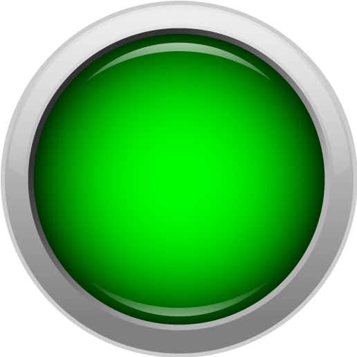 Push Button Icon, Big Red
