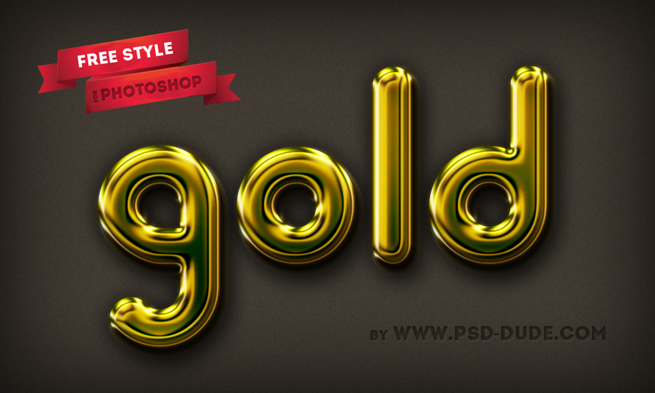 Gold Text Photoshop Psd Download - skinseven