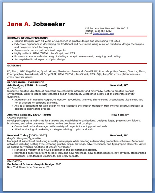 graphic design skills for resume ideas resume layout