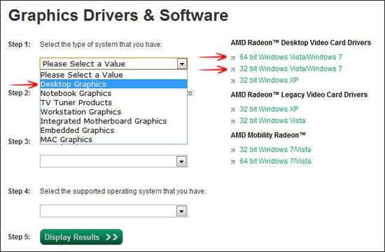 Updating the video card drivers windows vista