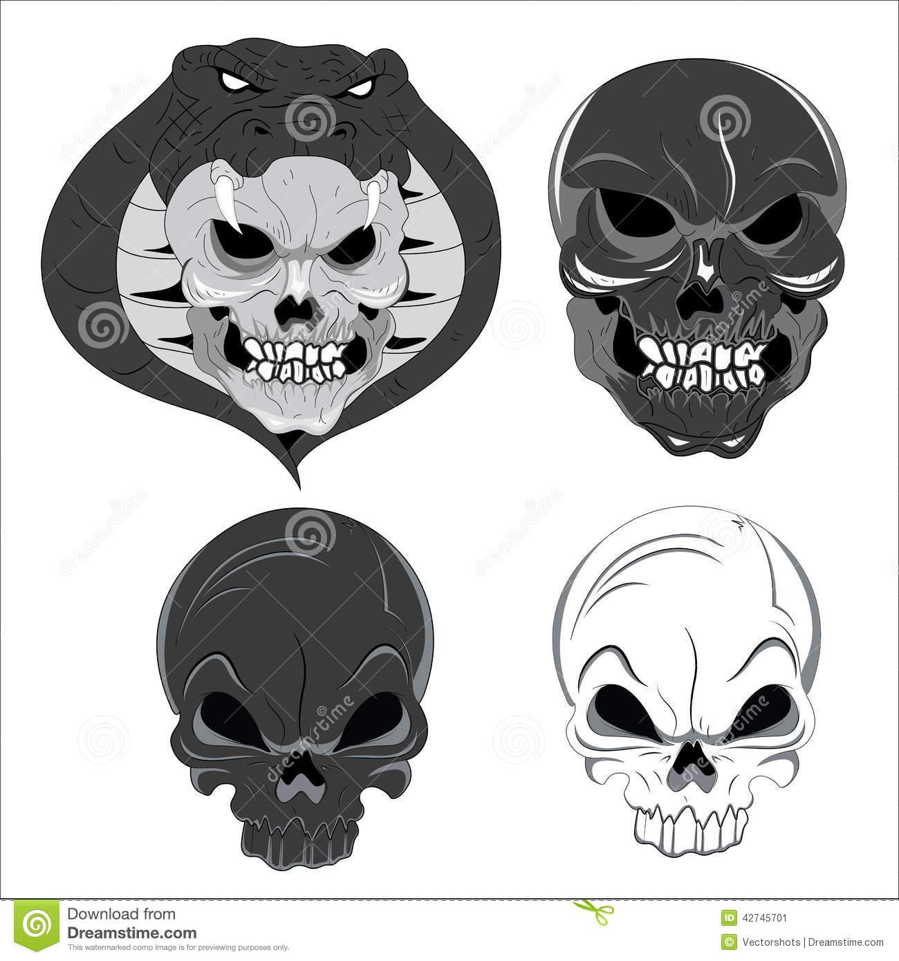 Halloween Ghost Face Cartoon