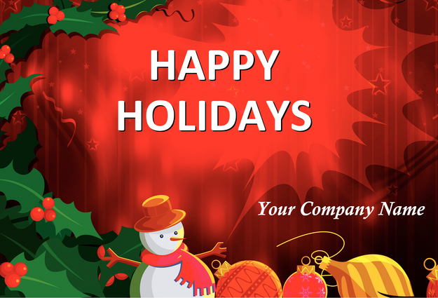 11 Happy Holiday Card Templates Images