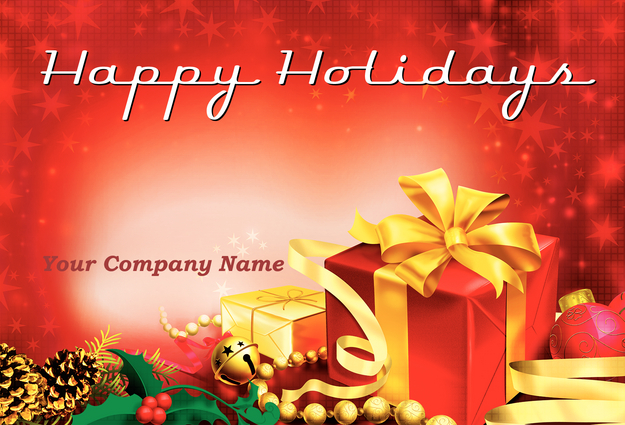 11 Happy Holiday Card Templates Images - Happy Holiday Greeting