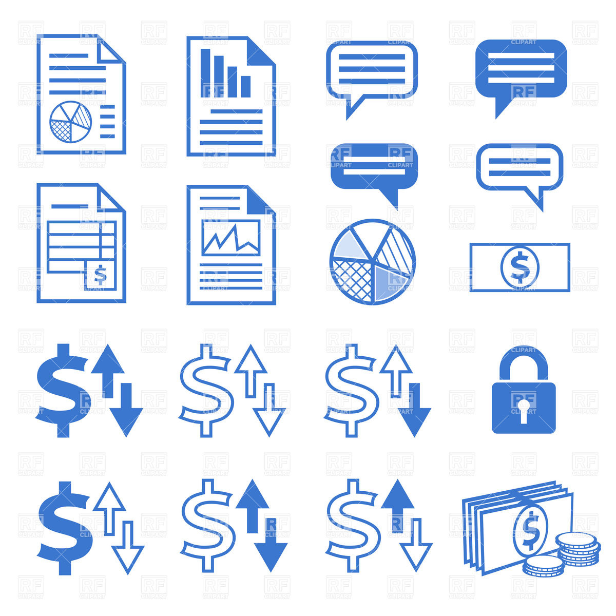 Icon Sets Business Free Clip Art