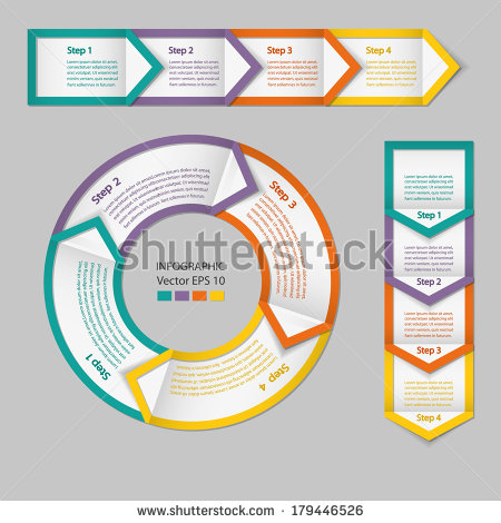 17 Process Flow Infographic Elements Images