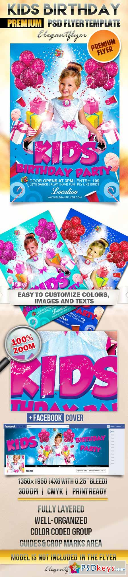 Kids Birthday Party Flyer Template Free