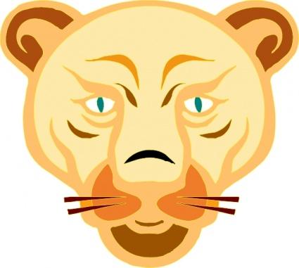 Lion Face Clip Art