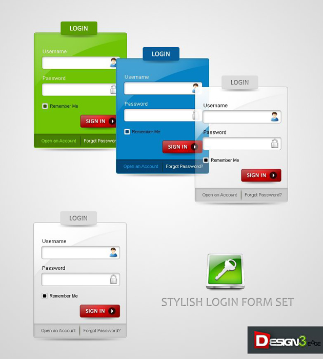 Material Web Design Login-Form
