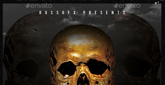 8 Gold Skull PSD Images