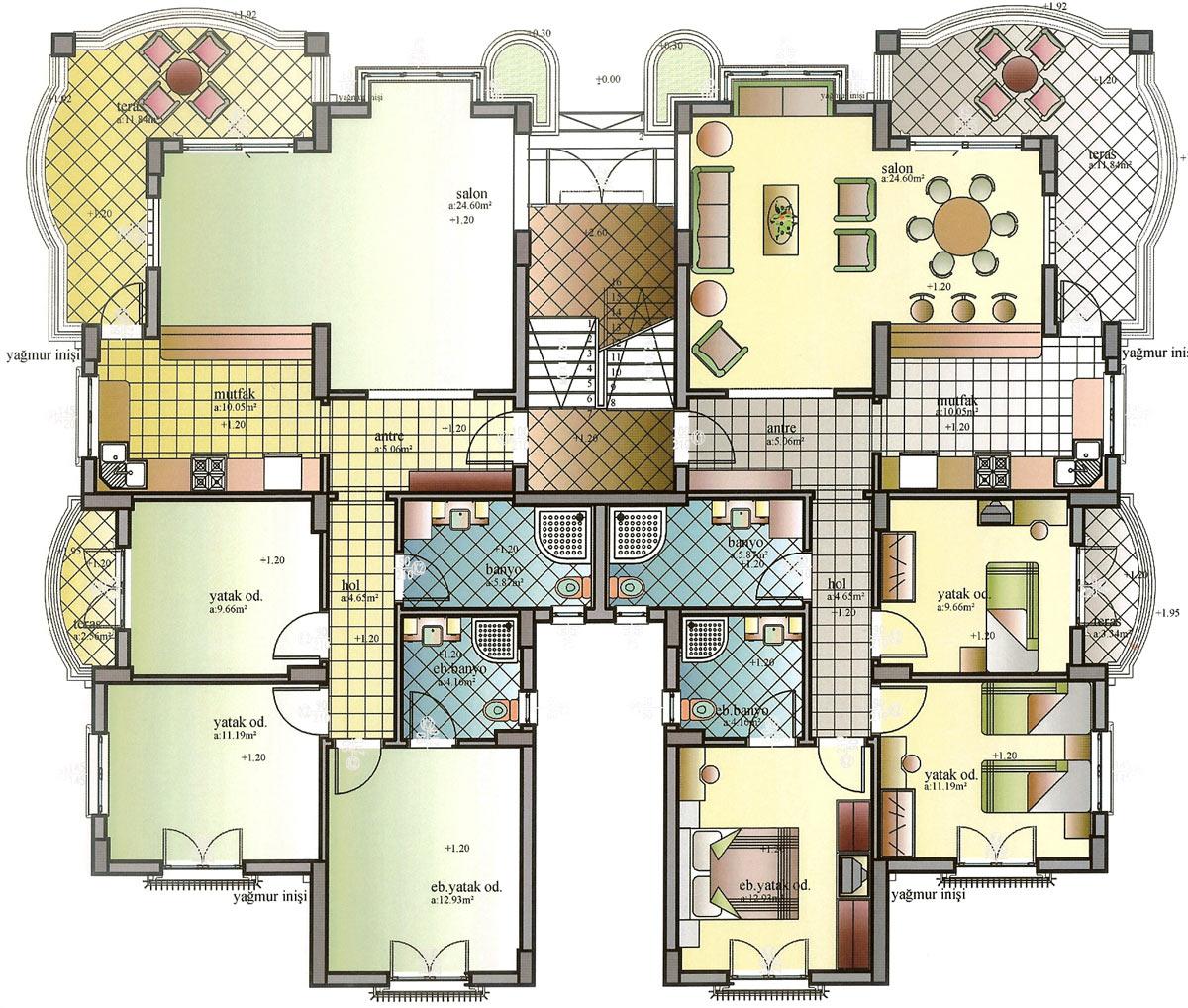 Modern Apartment Building Plans
