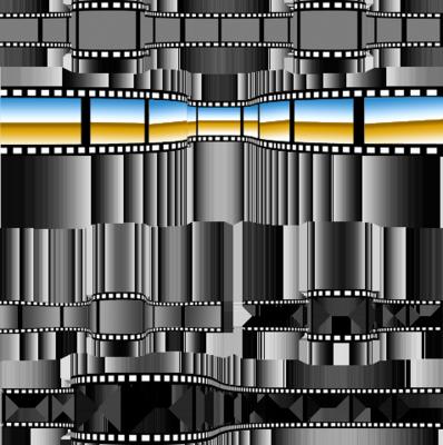 Movie Film Strip PSD