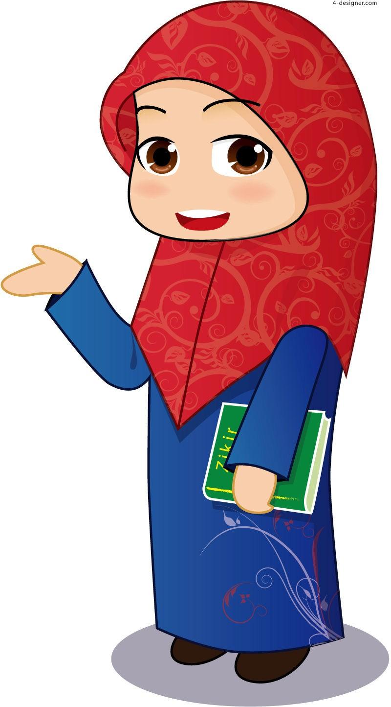 Muslim Woman Cartoon