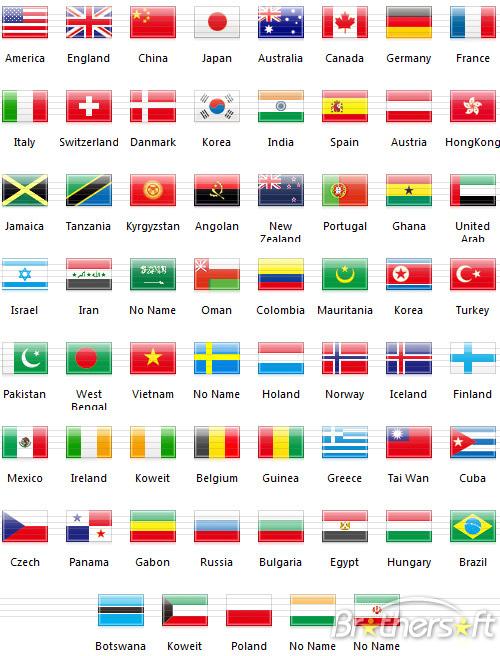 10 National Flag Font Images