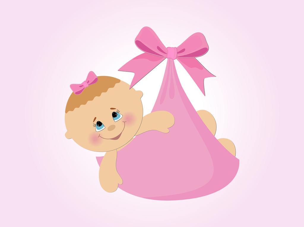 Newborn Baby Girl Cartoon