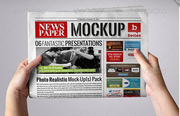 Newspaper Mock Up Psd