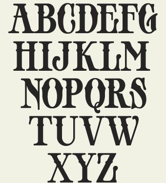 9 vintage lettering fonts capital letters images old for Classic house number fonts