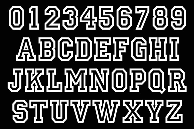 13 Varsity Outline Font For Numbers Images - Varsity Number