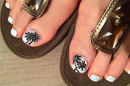 Palm Tree Toe Nail Art Gallery - Nail Art and Nail Design Ideas