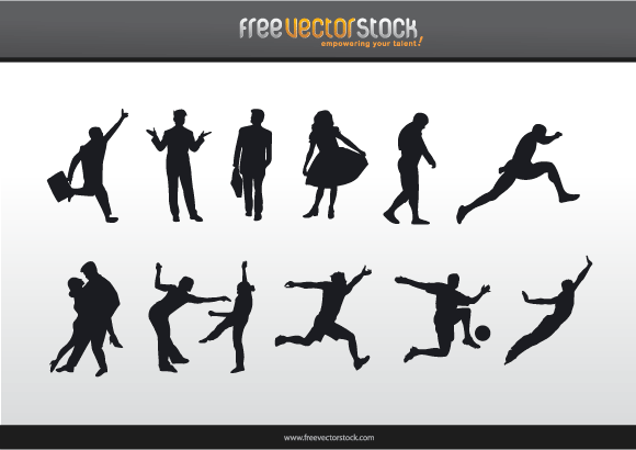 6 Vector Silhouette Blur Person Images