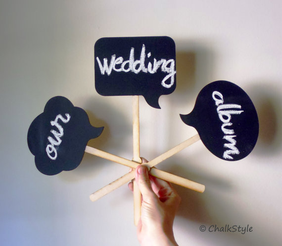 Photo Booth Props Speech Bubbles