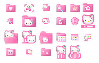 9 Kitty Icon Pink Images