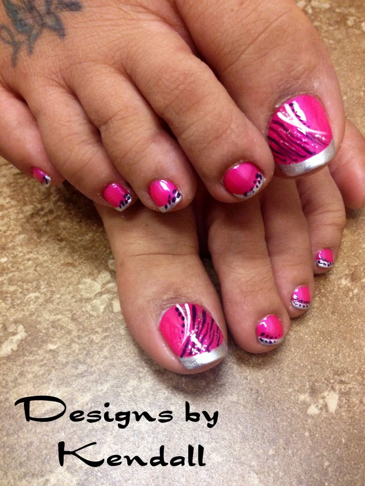 Pink Toe Nail Designs Pinterest