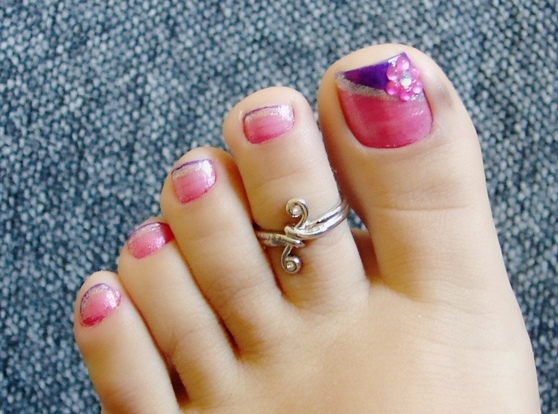 16 Pink Toe Designs Images