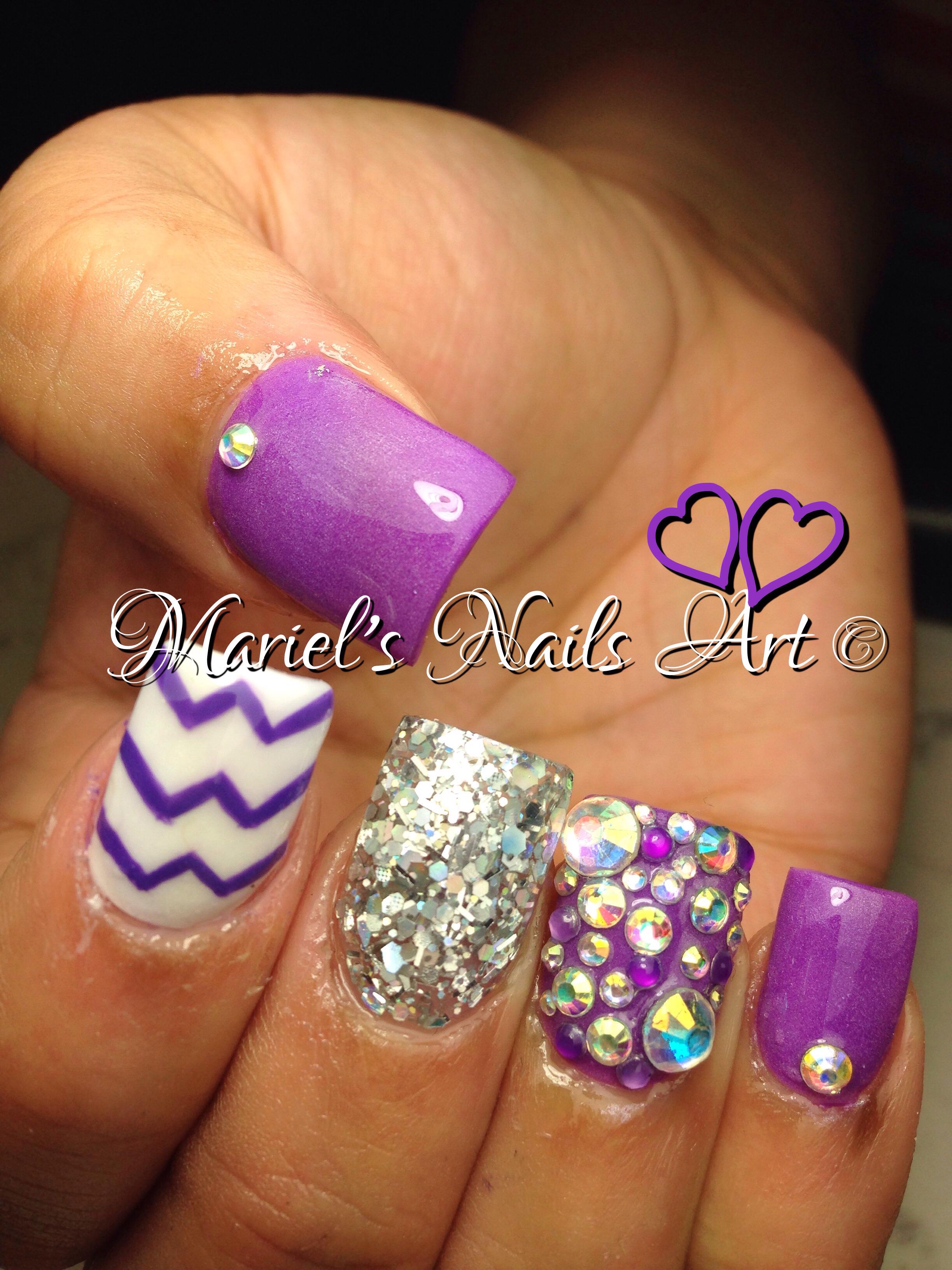 12 Purple Nail Designs Pinterest Images