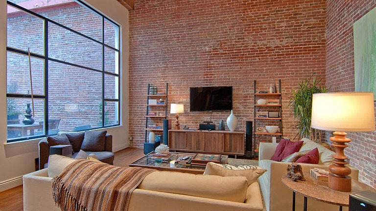 14 Studio With Brick Wall Interior Design Images