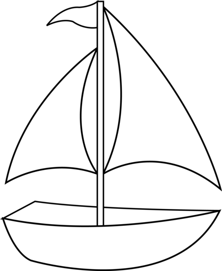 Sailboat Clip Art Black and White
