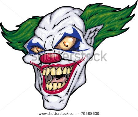 Scary Cartoon Clown Drawings