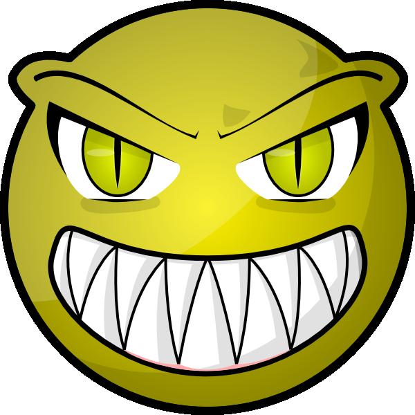 Scary Cartoon Face Clip Art