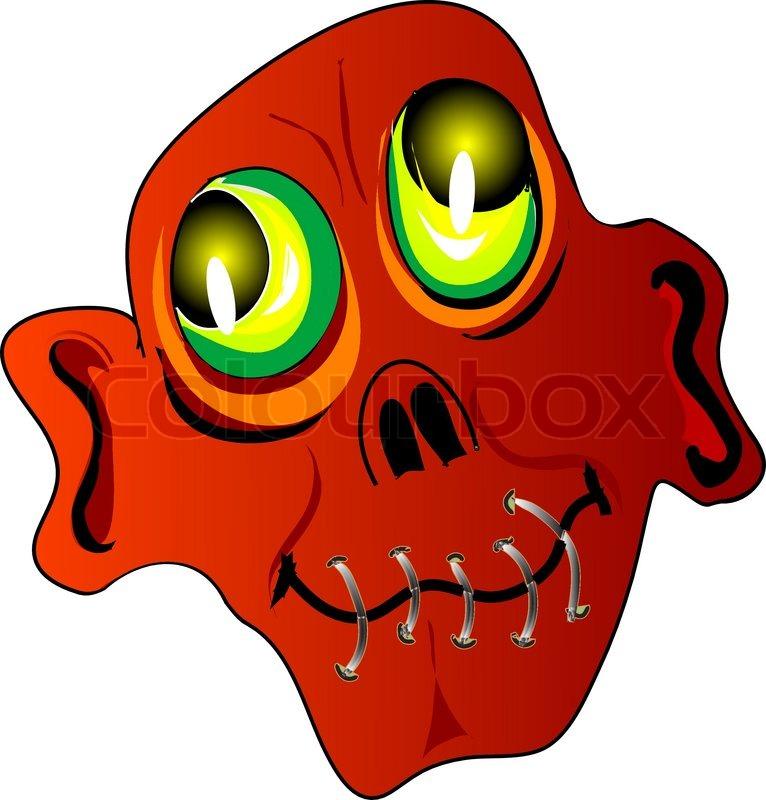 Scary Faces Cartoon Vector