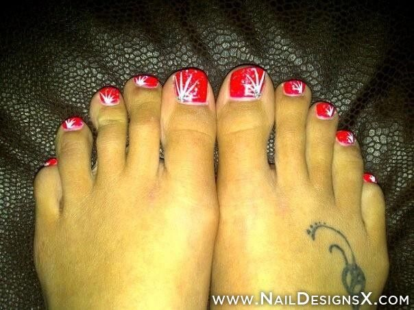 Sexy Red Toe Nail Design