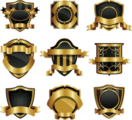14 Gold Badge Vector Images