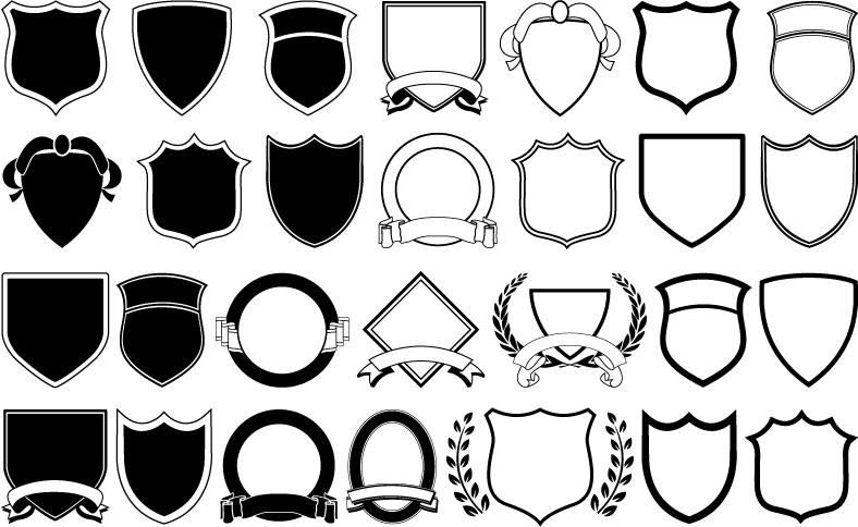 Shield Vector Logo Shapes