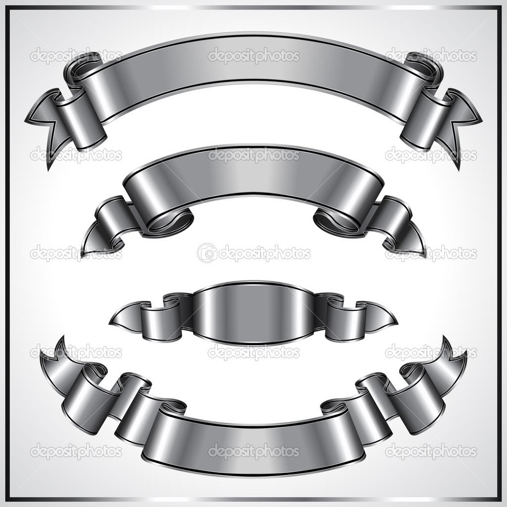 13 Silver Banner Vector Art Images - Metal Free Vector Art ...
