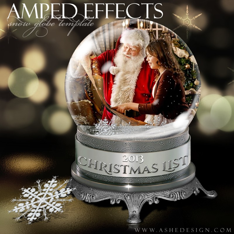 12 Snow Globe PSD Template Images