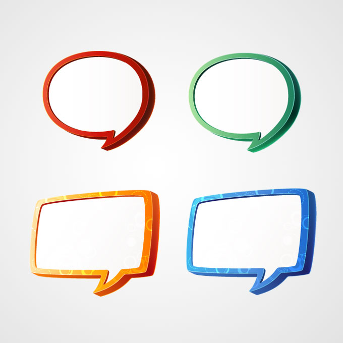 9 Free Vector Speech Bubbles Images