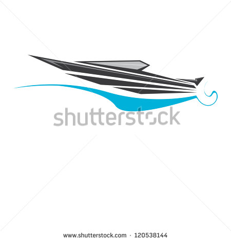 Speed Boat Clip Art Black and White