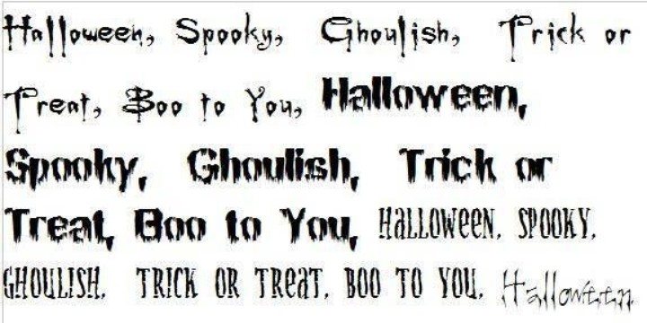 11 Halloween Spooky Number Font Images