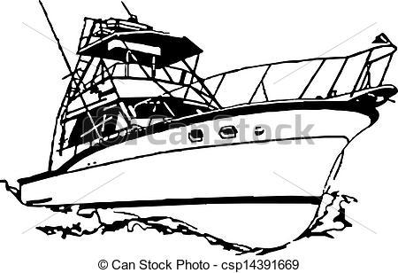 Sport Fishing Boat Clip Art