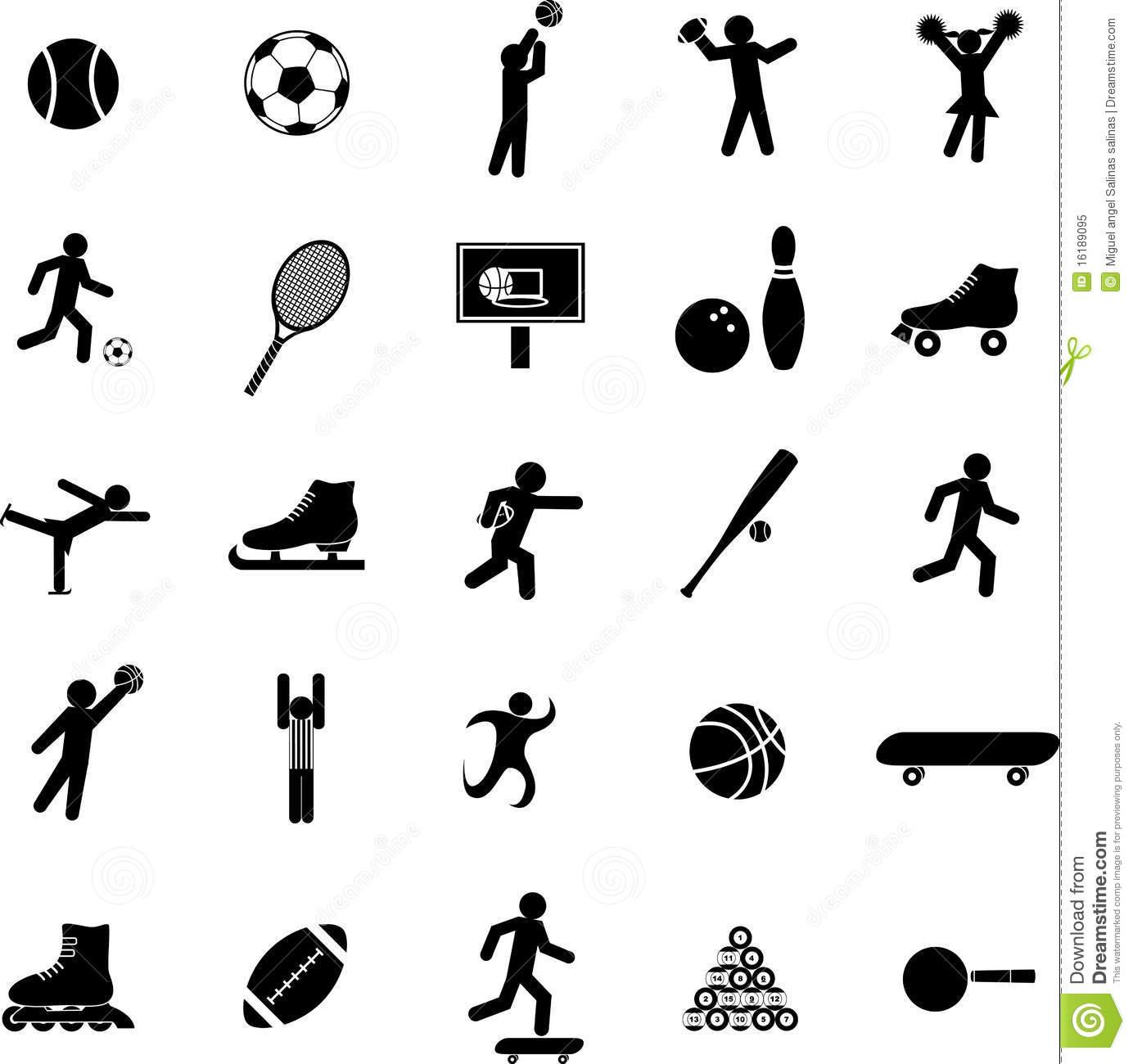Sports Icon Symbols