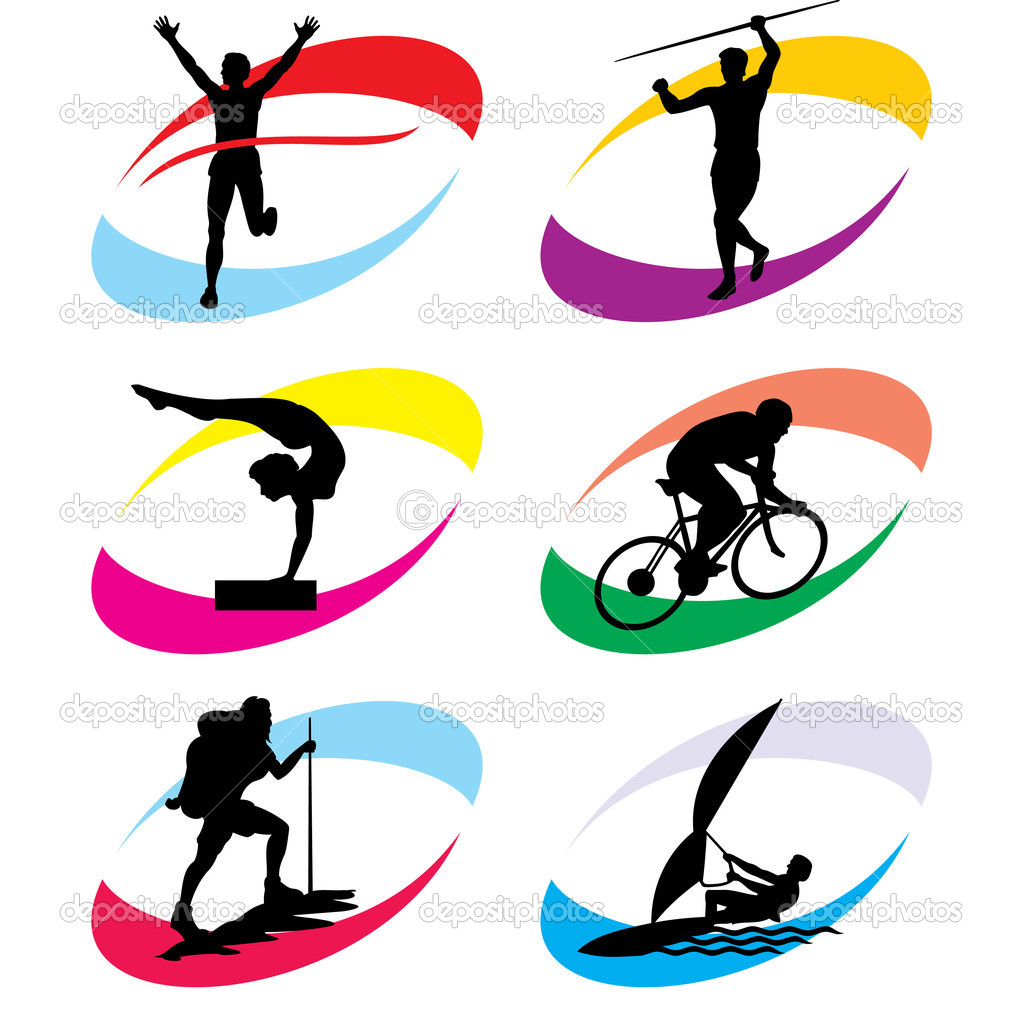 Sports Icons Clip Art