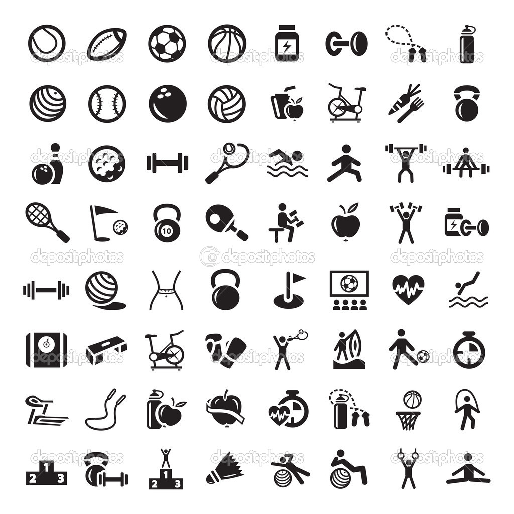 16 Sports Symbols Vector Images