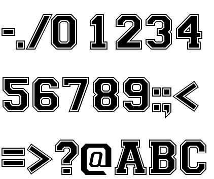 13 Varsity Outline Font For Numbers Images
