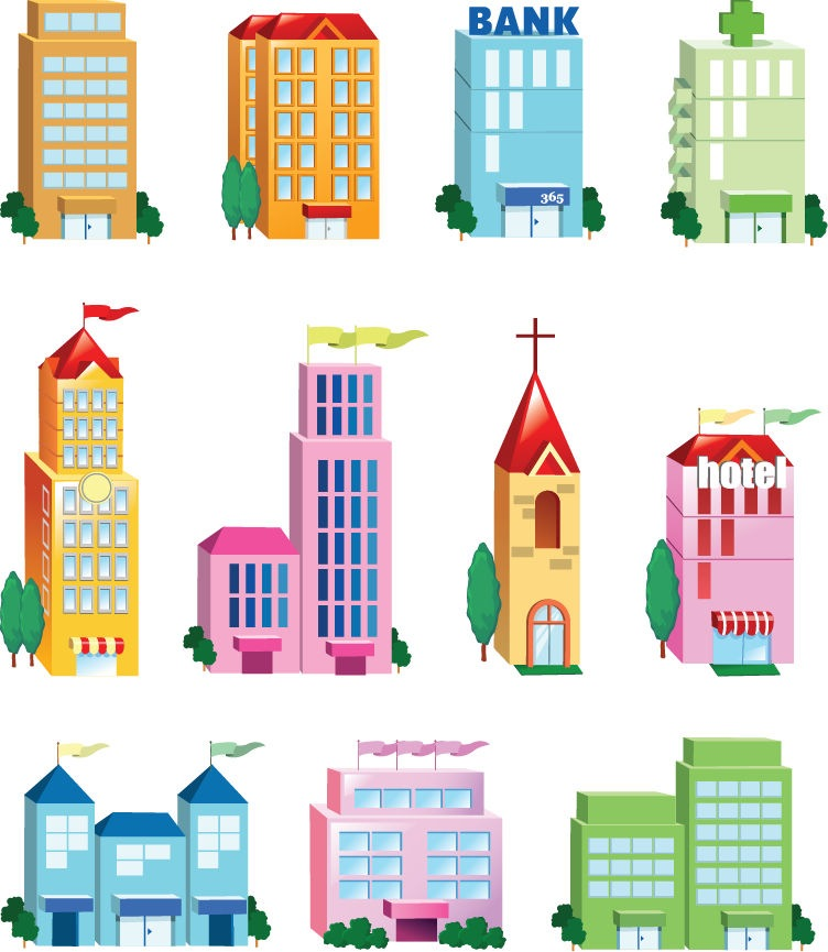 10 Office Building Icon Vector Images