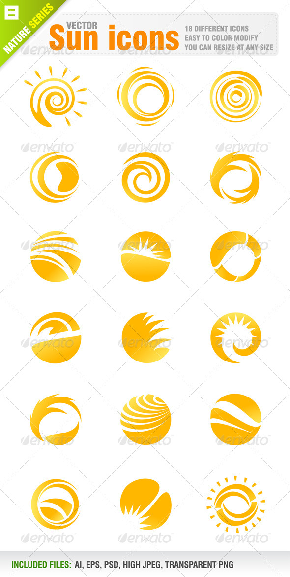 Sun Logo Free Vector Art  9279 Free Downloads  Vecteezy