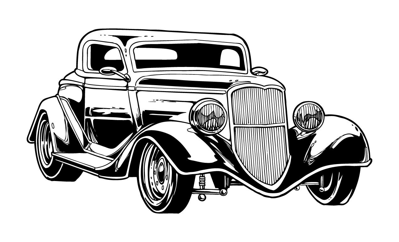 Vintage Car Vector Logo
